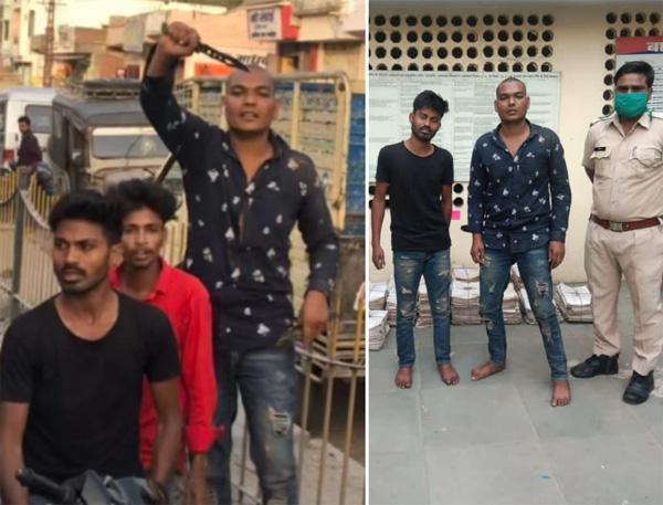 चाकू लहराते बदमाशो ने पिता पुत्र को लूटा, पुलिस ने 48 घंटो में पकड़ा
